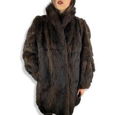 BENIOFF'S soft brown marten fur coat with balloon sleeves Suede Coat, Fur Coat, Grey Leather, Black Patent Leather, Skirt And Top Set, Black Italians, Swing Coats, Vintage Fur, Pastel Yellow