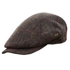 47422556dd3 Men s Quiet Man Cap -Irish Tweed Flat Cap - Brown - CG11IJ37Q1N - Hats  amp