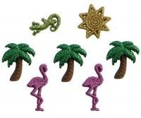 GLITTER PALM TREES & FLAMINGOS (TP-4421) RRP: $2.29  Now: $2.00