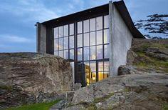 casa nella roccia in Norvegia
