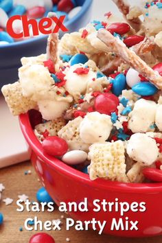 With just four easy steps, this recipe couldn't make 4th of July hosting any easier! Perfect for barbecues, parades, pool parties or any patriotic event, your guests will love the way this mix tastes and looks!