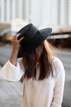 I have a black straw hat on my thrift list! I really want to find one.