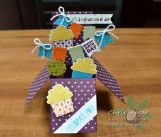 Cupcake Party Card in a Box by Chris Slogar - Cards and Paper Crafts at Splitcoaststampers