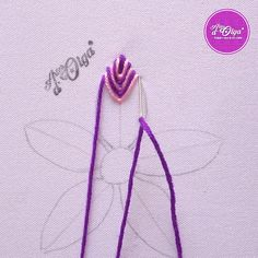 Hand Embroidery Patterns Flowers, Basic Embroidery Stitches, Hand Embroidery Videos, Hand Embroidery Tutorial, Embroidery Flowers Pattern, Creative Embroidery, Simple Embroidery, Learn Embroidery, Hand Embroidery Designs