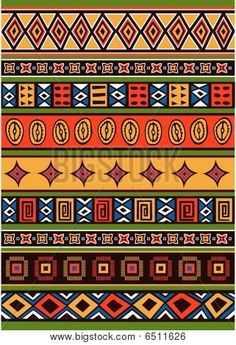 Set of African pattern Stock Vector & Stock Photos | Bigstock