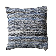 handmade denim cushion from Bloomingville. Made of vintage jeans. www.bloomingville.com/shop