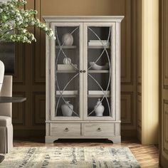Woodworking For Beginners Tools Code: 9271318293 Painted Curio Cabinets, Curio Cabinet Decor, Book Cabinet, Family Room Furniture, Table Furniture, Italian Bedroom Sets, Corner China Cabinets, Woodworking Shop Layout, Woodworking Plans