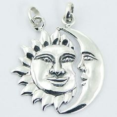 NOW $21.95aus Whit FREE WORLD SHIPPING ..... BUY FROM LINK HERE.... http://www.ebay.com.au/itm/Silver-pendant-hand-crafted-925-sterling-sun-moon-shinny-30mm-height-brand-new-/171972122933?ssPageName=STRK:MESE:IT