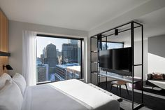Hotel Monville - an avant-garde and Canada's first hotel offering autonomous robot room service Elite Hotels, Luxury Hotels, Find A Room, Book A Hotel Room, Hotel Safe, Architecture, Hotel Offers, Great Rooms, Interior Design