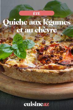 Cette quiche aux légumes et au chèvre est cuisinée avec une croûte en pâte brisée.  #recette#cuisine#quiche#legume #chevre #ete