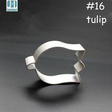 2015 nova liga de alumínio tulip flower forma cortador de biscoitos de frutas/pudim/torrada/cortador de legumes molde 5.5 cm * 3.5 cm * 1.7 cm(China (Mainland))