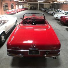 #MERCEDESMONDAY ✨✨ #Red on #Red '64 @mercedesbenz #230SL Pagoda 🔴🔴 ☑️ #ManualTransmission ☑️ #MatchingNumbers #️⃣#️⃣ Very Clean & Soft Top Included $34,750 BeverlyHillsCarClub.com Classic Mercedes, Mercedes Benz, Bmw