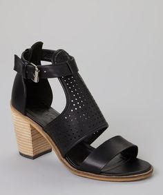 Look at this #zulilyfind! Black Perforated Pascal Sandal #zulilyfinds