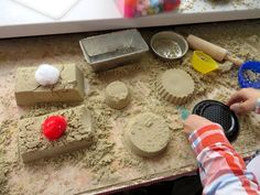 Build a sand table large enough to borrow mom's kitchen pans if you don't have toy ones. (Skip the Teflon pans). Restaurant Themes, Kindergarten Themes, Preschool Lessons, Very Hungry Caterpillar, Happy Foods, School Themes, Food Themes, High Tea, Kids And Parenting