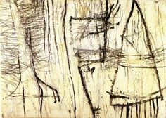 Cy Twombly can make a cacophony with the various thicknesses and agitation in his line.