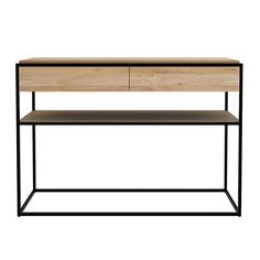 Monolit Console – Black Oak/Black – Rouse Home Hallway Sideboard, Entryway Tables, Hall Tables, Credenza, Furniture Styles, Furniture Design, Baby Cradle Wooden, Dining Room Console, Hallway Colours
