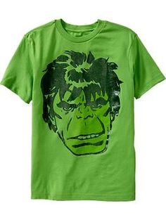 Boys Marvel Comics™ Hulk Tees (super hero shirts for Easter baskets)