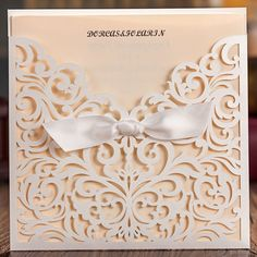 50pcs Delicate Laser Cut Wedding Invitation with Embossed Flora Wedding Cards Free Shipping(1 card + 1 inner sheet + 1 envelope)