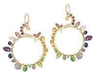 Bora Bora 030 ~Rainbow Circle Earrings with Metal Choice