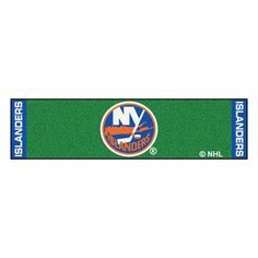 NHL New York Islanders 1 ft. 6 in. x 6 ft. Indoor 1-Hole Golf Practice Putting Green, Blue