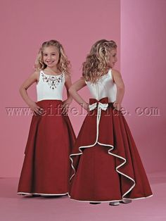 I like this for the flower girl but I would like the skirt to be more red than maroon