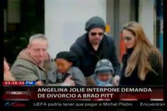 La actriz Angelina Jolie presentó la demanda de divorcio a Brad Pitt