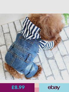 98ee7bcf0e Clothing   Shoes Stripes Jean Pet Dog Clothes Overalls Cowboy Dress Puppy  Jumpsuit Hoodie M-Xxl   Garden