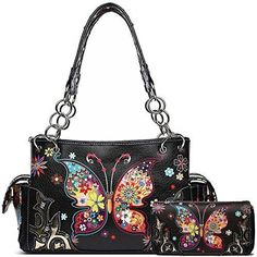Concealed Carry Handbags, Spring Purses, Large Shoulder Bags, Medium Tote, Black Handbags, Purses And Bags, Women's Bags, Western Style, Totes