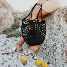 Make a statement at the beach or even at your local market with our unique net bag! Made from 100% cotton rope, our net bags are durable and expand as more goods are placed in the bag.   Mia Mélange bags are made from 100% cotton rope which we carefully sew together in a coiling technique. The cotton is grown locally in South Africa by farmers who are members of the Better Cotton Initiate (BCI). Net Bag, Cotton Rope, Bucket Bag, South Africa, Sew, Beach, Unique, Farmers, Products