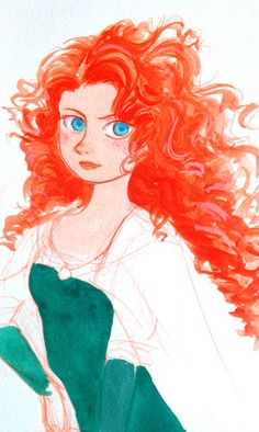 Merida is obviously not mine and belongs to Pixar, but I did do this piece of fan art (work in progress).