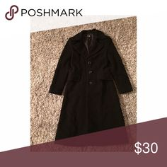 Zara Black long Jacket Three buttons black long jacket Zara Jackets & Coats
