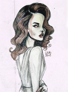 Lana Del Rey #LDR #art by Lucas David
