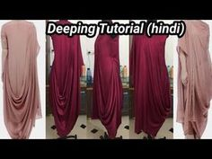 Designer cowl/draped kurti cutting and stitching | Cowl/draped dress cutting and stitching | - YouTube