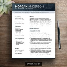 modern resume template for word cover letter references 2 page resume downloadable - Mac Pages Resume Templates