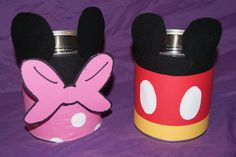 It would be super easy to make these for a Mickey Mouse Clubhouse party for holding utensils (or anything, really)