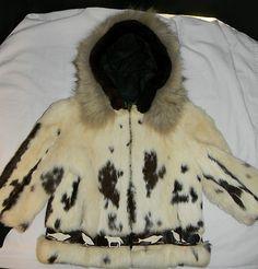 Most amazing thing ever Vintage David Green Alaskan Fur Iditarod Parka Coat Jacket Lined Wolf Trim Hood   eBay