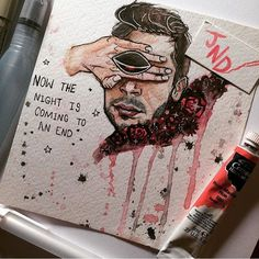 I love the combination of color and lines and lyrics and disturbing images all crafted together with SUCH EXTREME TALENT that Clique art brings to the table