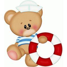 Silhouette Design Store - View Design #59749: sailor bear w lifesaver pnc