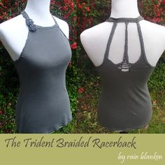 How to make this Braided Trident Racerback T-Shirt out of an old T-shirt!