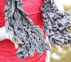 Randomly Shirred (and Stretchy) Scarf | Make It and Love It