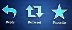 Reply - ReTweet - Favorite