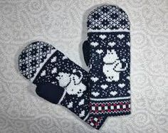 Moomin Knitting Pattern : Hand-made adult mittens with moomin pattern Knit Slouchy Hat Pattern, Baby Hat Knitting Pattern, Fair Isle Knitting Patterns, Diy Crochet And Knitting, Mittens Pattern, Knit Mittens, Knitting Charts, Knitting Socks, Newborn Knit Hat