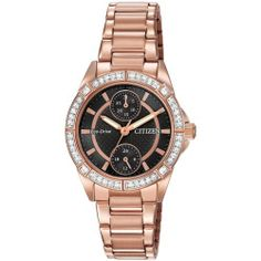 Ladies' Drive from Citizen Eco-Drive POV Crystal Black Dial Watch