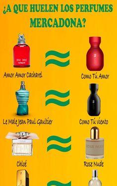 Descubre las mejores equivalencias de perfumes Mercadona en este listado actualizado. Aromas que huelen igual que tus perfumes favoritos a precios populares