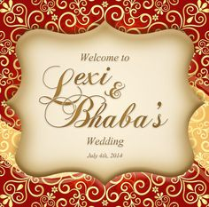 Indian Inspired Custom Label for Wedding by 4WeddingWelcomeBags, $0.70