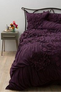Anthropology plum bedding. What luscious bedding and wonderful color!