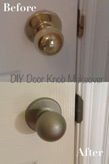 Cupcakes and Curls: DIY Door Knob Makeover