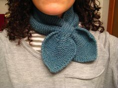 Knitted Neck Scarf pattern by Martha Stewart.