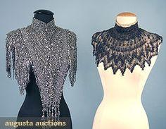 Augusta Auctions, April 2006 Vintage Clothing & Textile Auction, Lot 569: 2 Elaborately Beaded Mantles, C. 1890