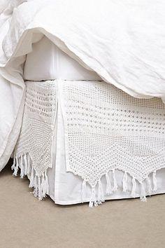 Fringe Crochet Bedskirt #anthrofave: